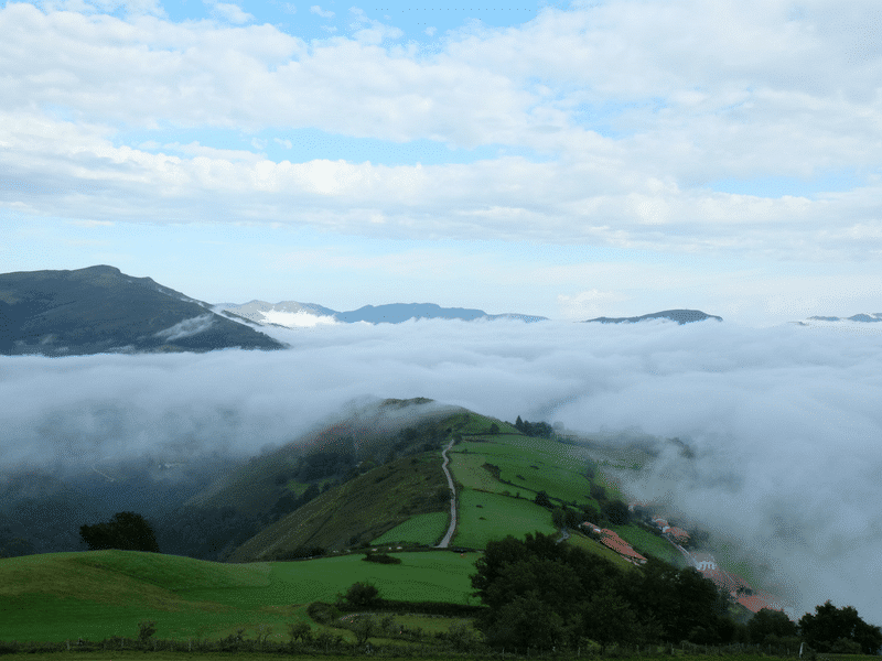 Clouds blanket the camino